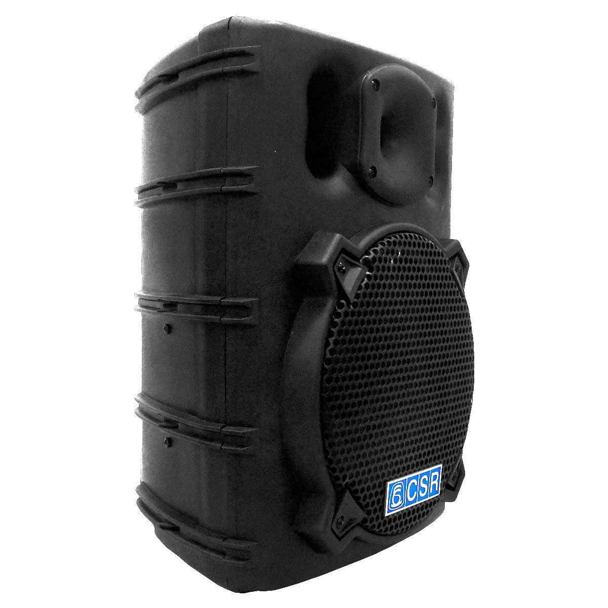 CAIXA AMPLIFICADA  CSR 2500 A 10 Polegadas c/ 3 Entradas + Echo