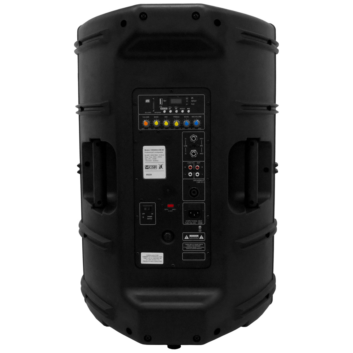 CAIXA AMPLIFICADA CSR 4000 A 15 Polegadas 300W c/ USB / BLUETOOTH