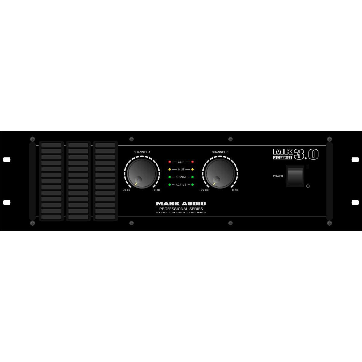 Amplificador Mark Audio 3000W 2 Ohms MK 3.0
