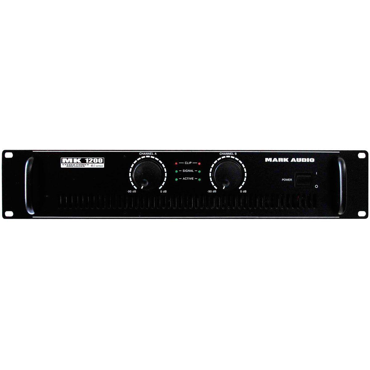 8c059354c Amplificador Mark Audio MK 1200 - Amplificador Mark Audio na ...