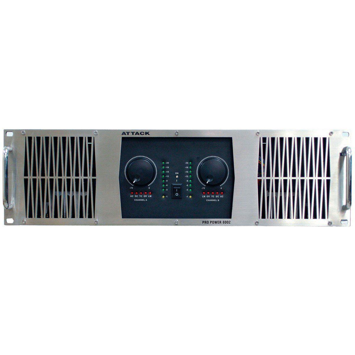 Amplificador de Potencia 8000W 4 Ohms PP 8002 - Attack