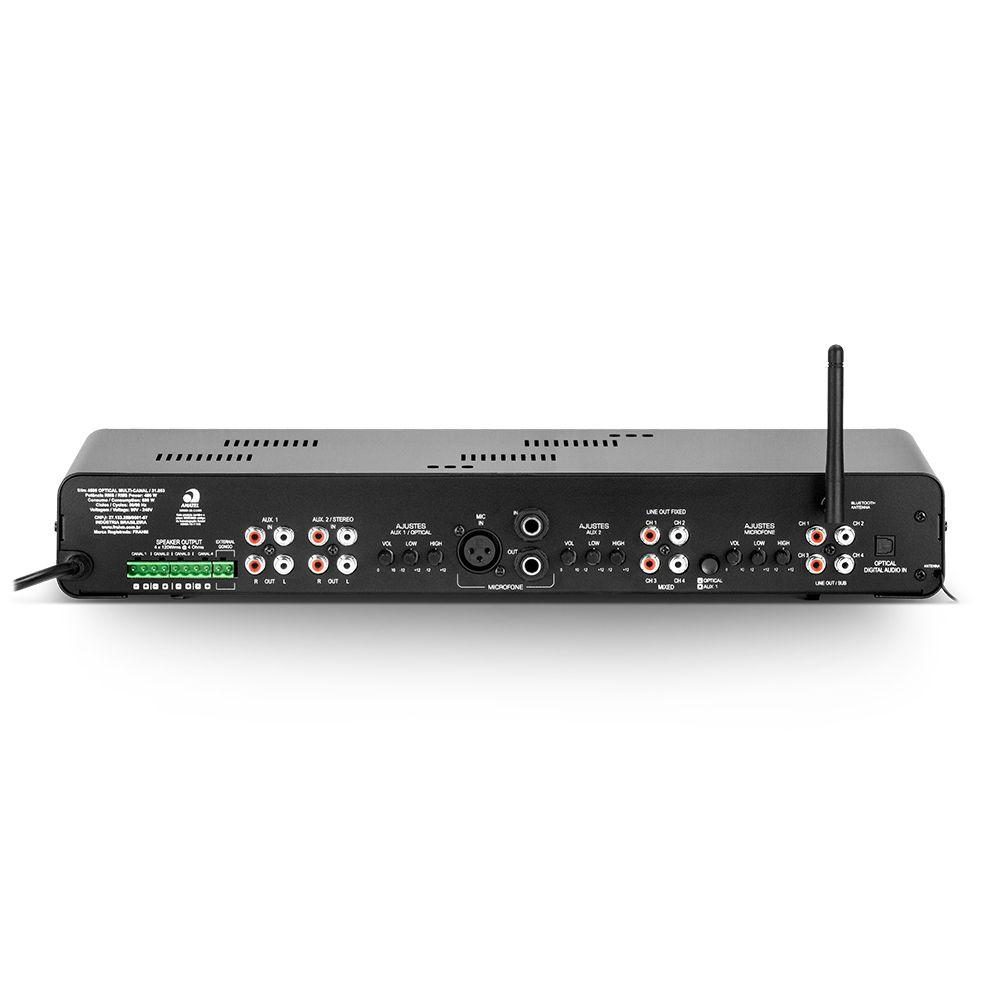 Amplificador de Potência SLIM4500APPOPTI Bluetooth 480W Frahm