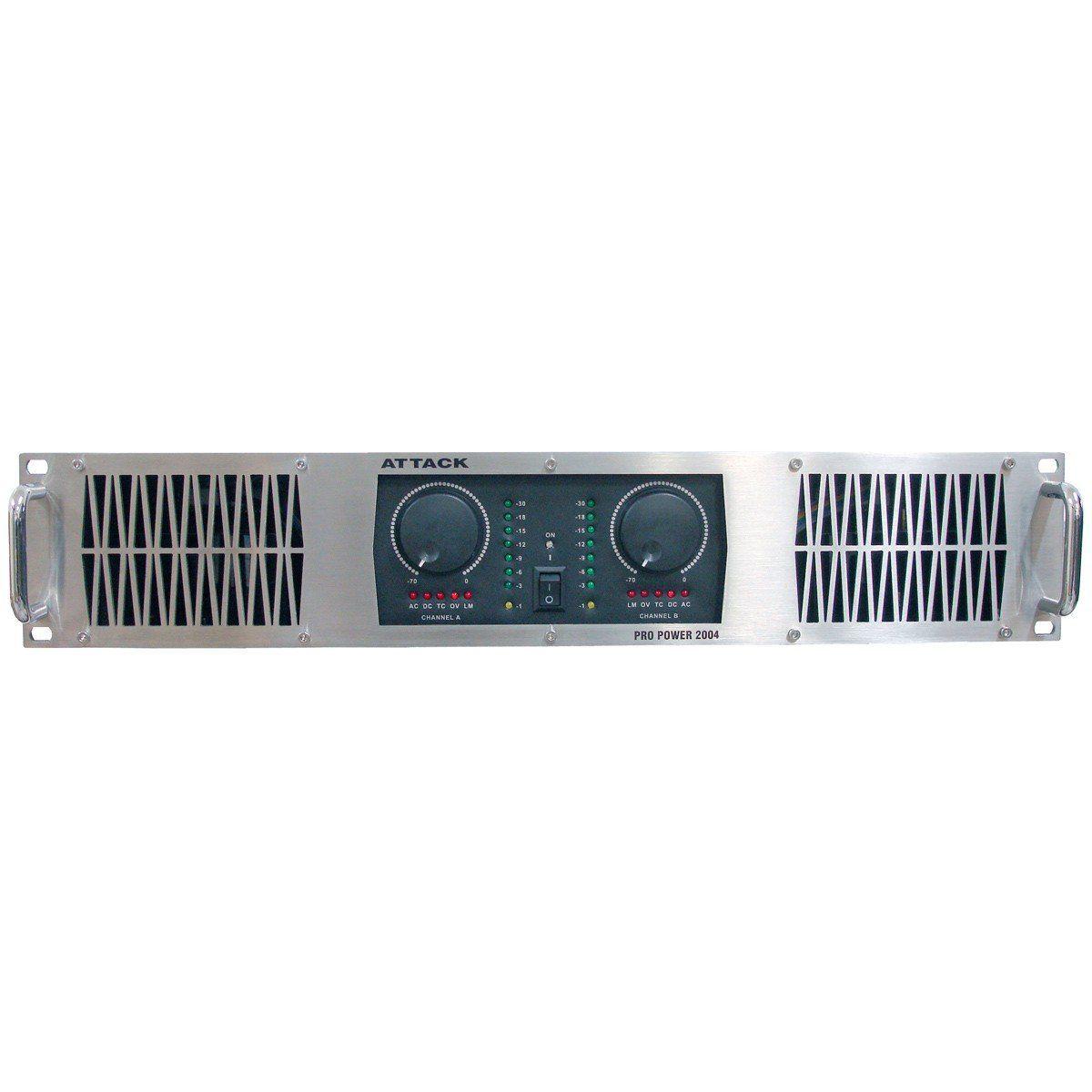 Amplificador de Potência PP2004 2 Canais 2000W Estéreo Attack
