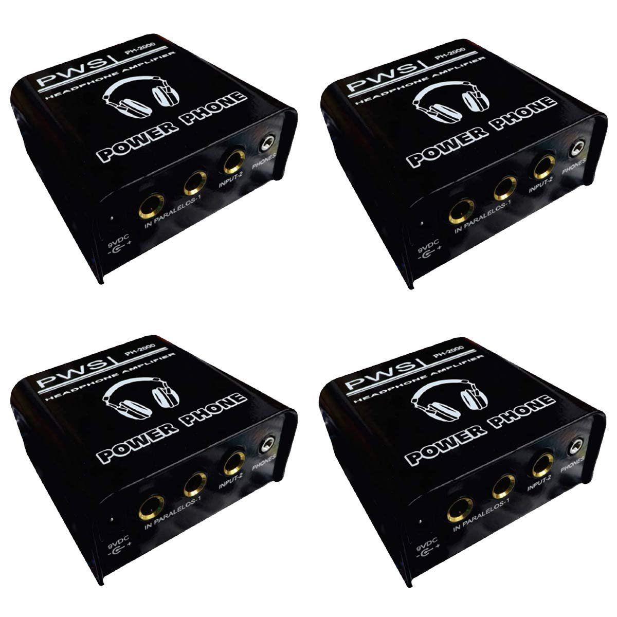 KIT Amplificador de Fone de Ouvido PH-2000 2W 2 Canais PWS (4 UND)