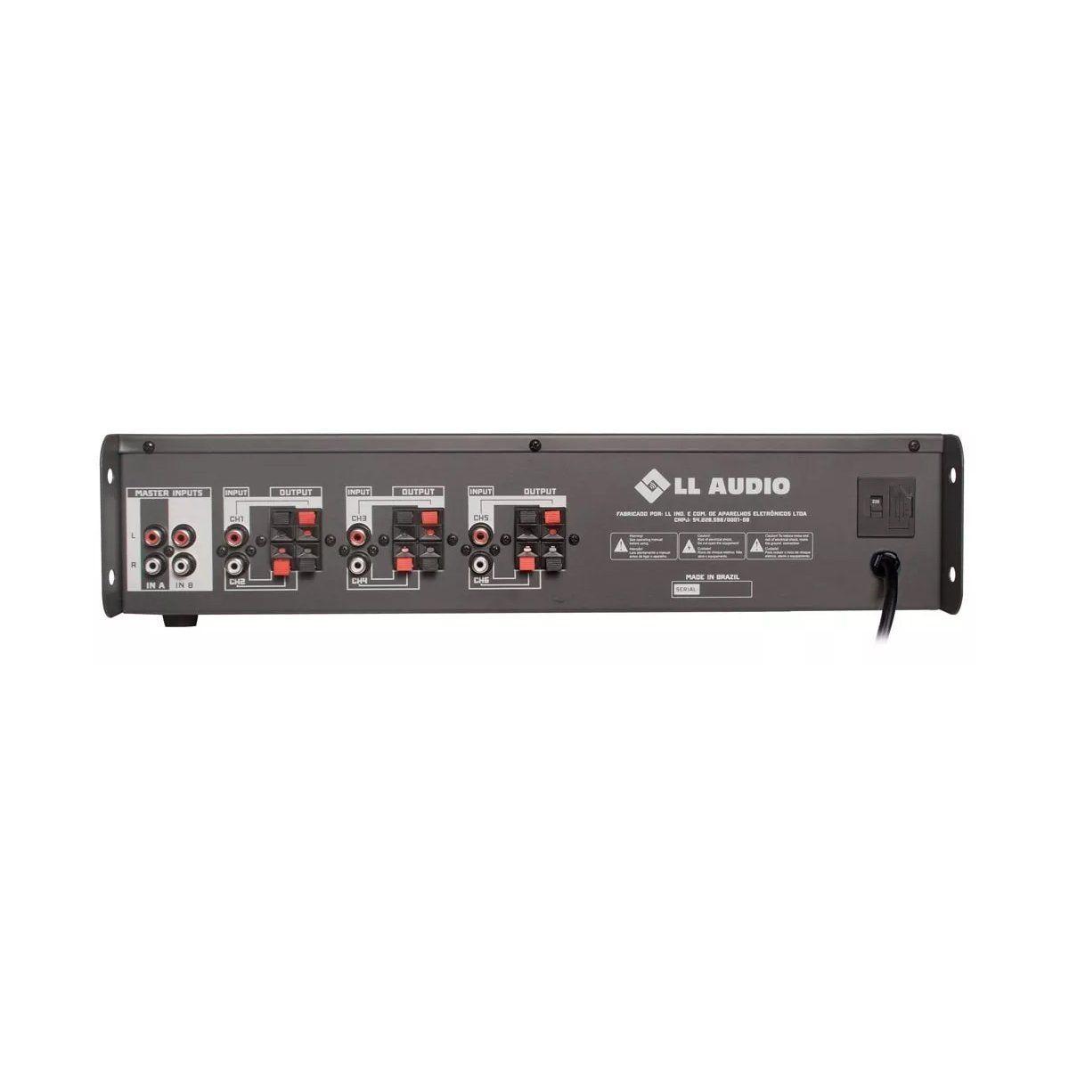 Amplificador para Som Ambiente 180W 4 Ohms NCA PW 350