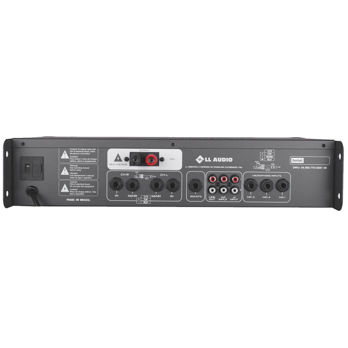 Amplificador de Som PWM70V Estéreo 300W 70V NCA