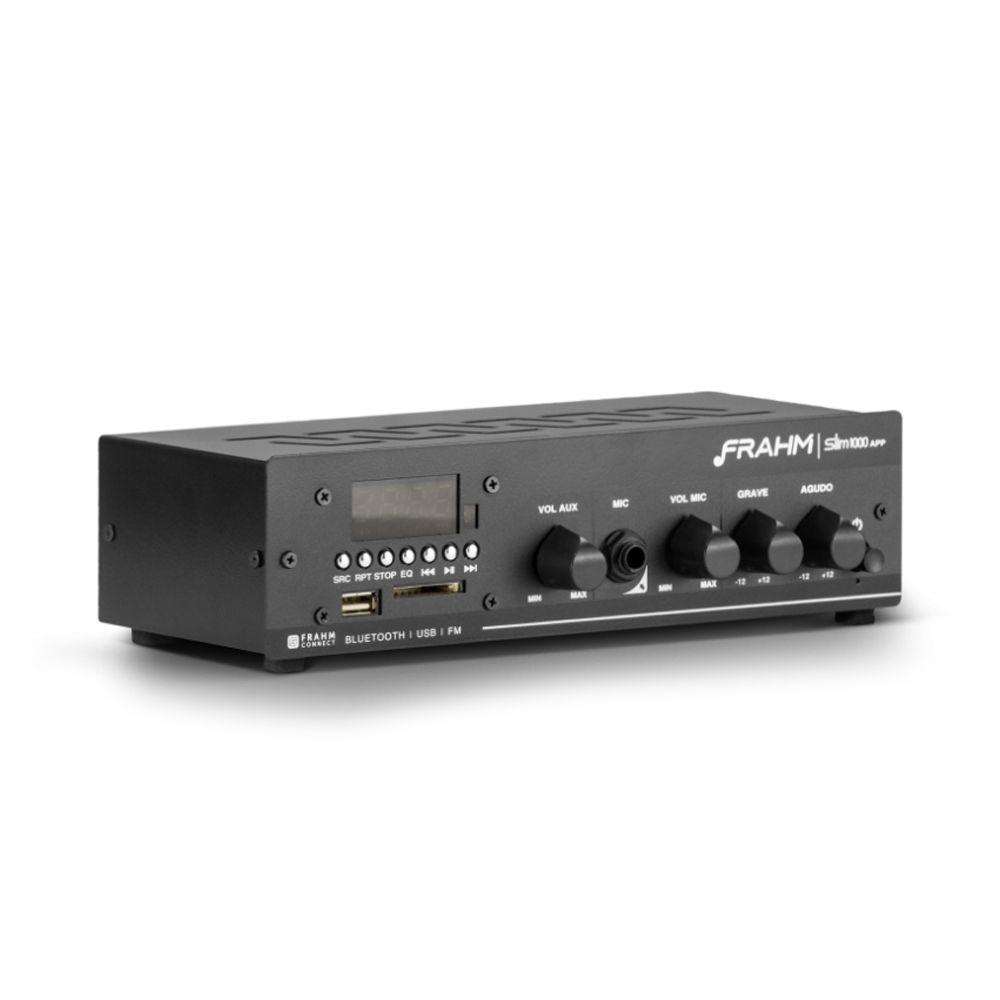 Amplificador de Potência SLIM1000APPG2 Bluetooth 40W Frahm