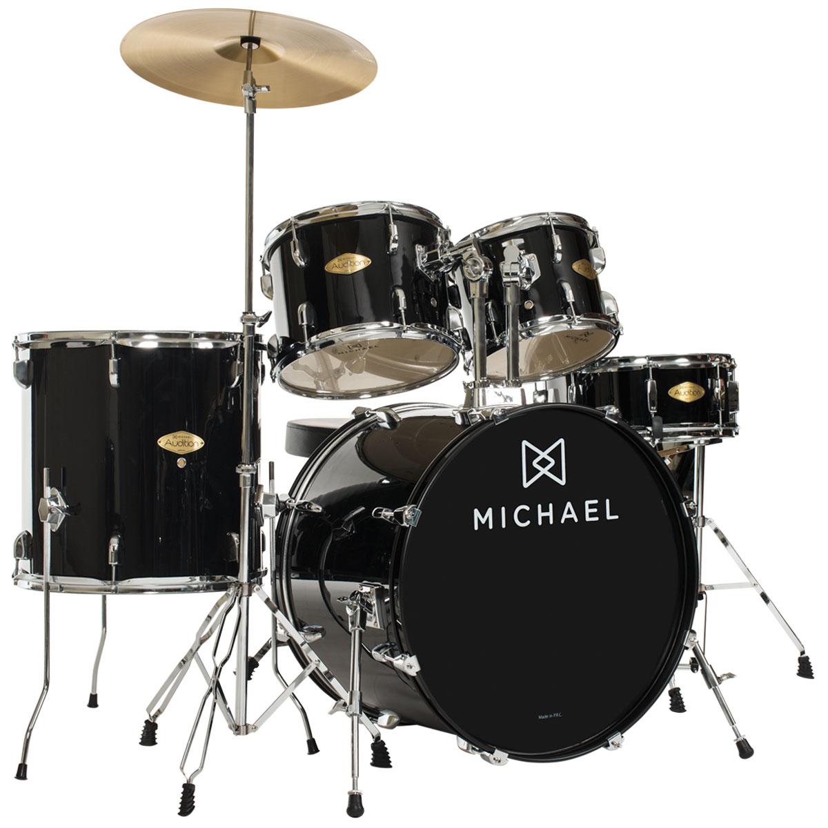 Bateria Acústica Bumbo 20 Pol - Audition DM 827 BK Michael