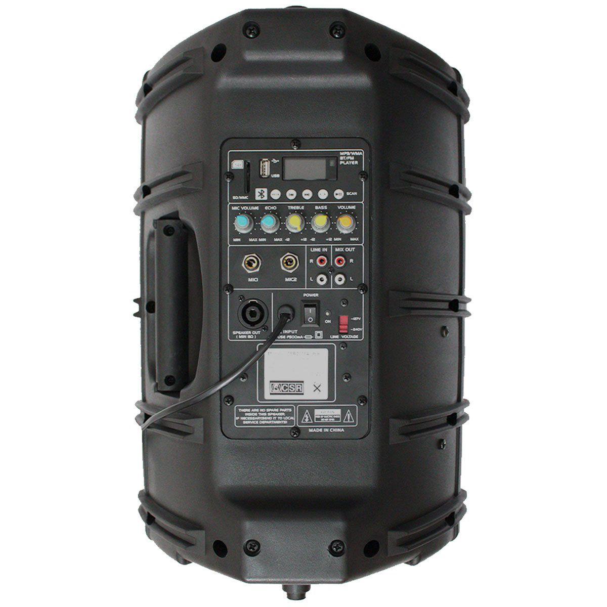 Caixa Amplificada CSR 2500 A USB BT 10 Polegadas 100W c/ USB e Bluetooth