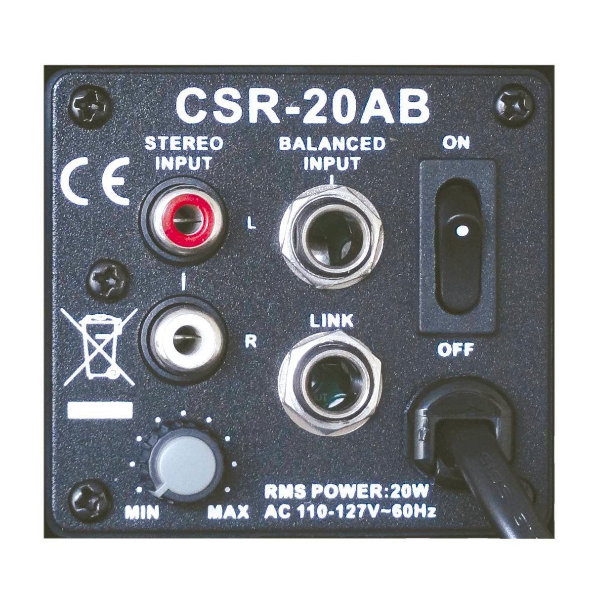 Caixa Ativa Fal 3 Pol 20W c/ Suporte (Par) - 20 AB CSR 110V