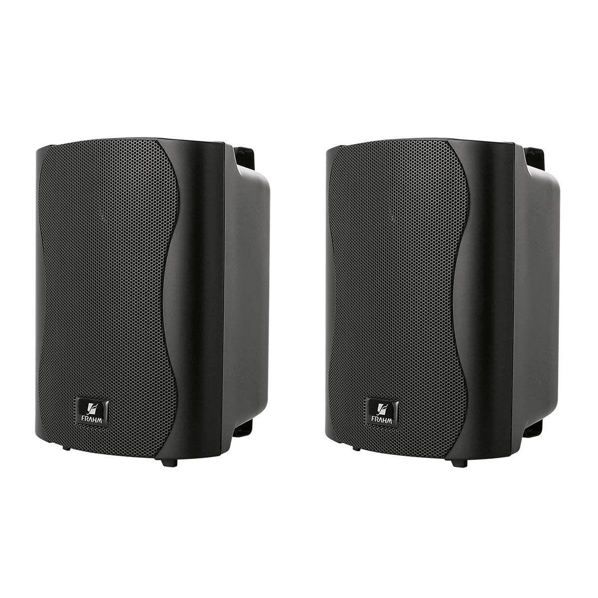 Caixa Passiva p/ Som Ambiente Fal 4 Pol 40W c/ Suporte (Par) - PS 4 Plus Frahm