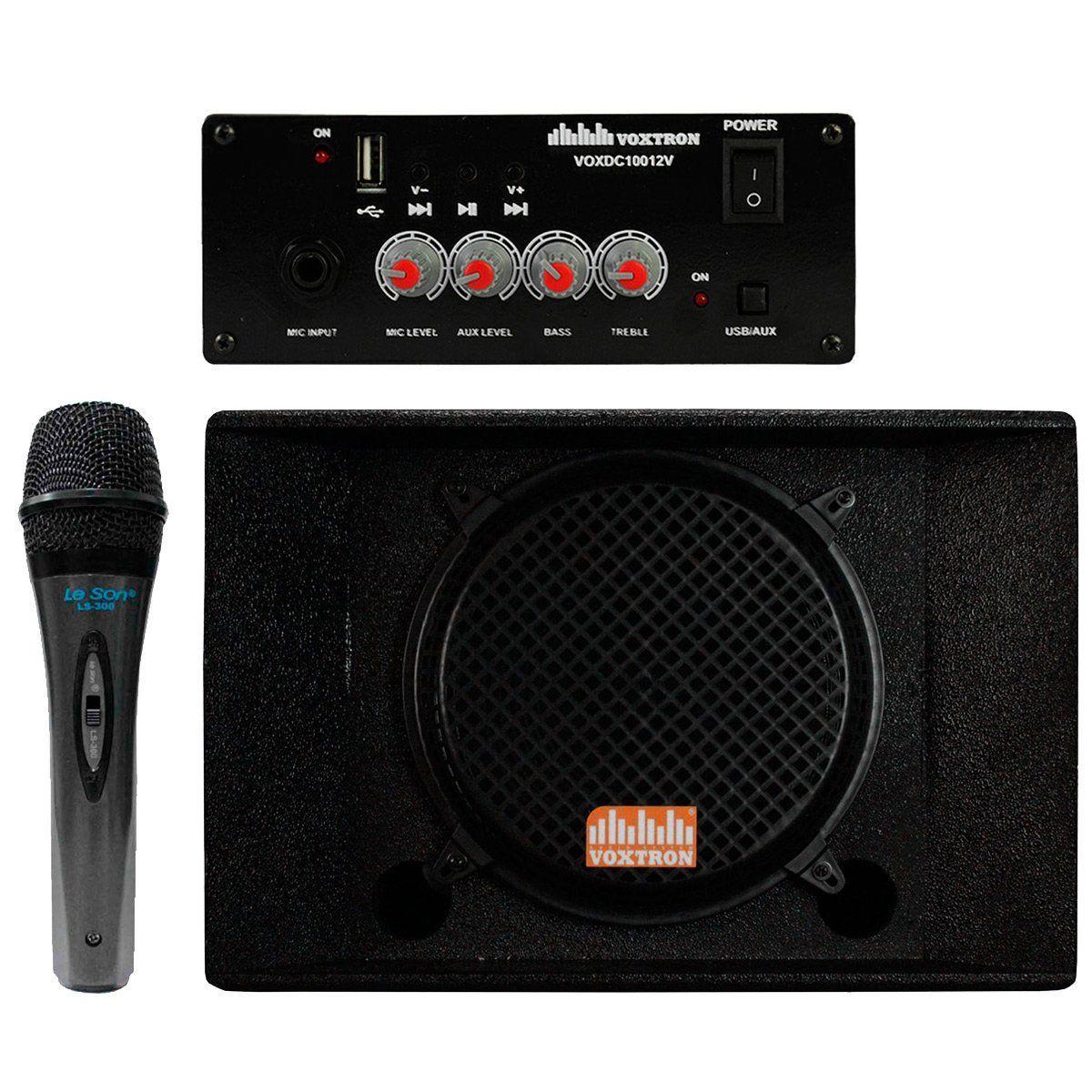 Caixa Quadrilatera Voxtron Kit 4 Falantes 12 Polegadas 200W + Amplificador  + Microfone - VENDAS RAPIDAS ... 569f2021762