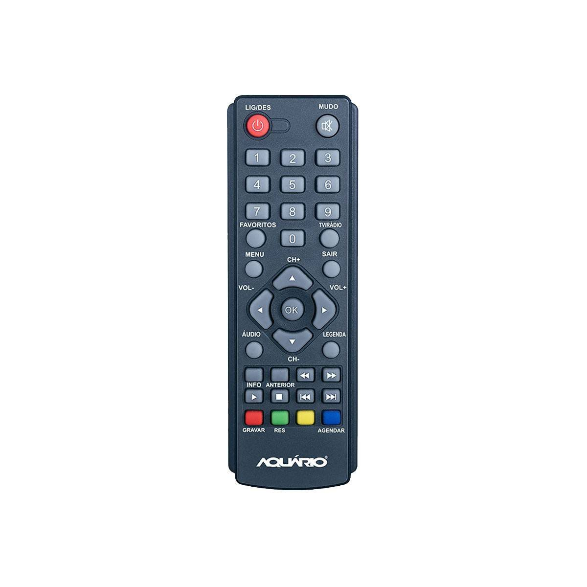 Conversor Digital Full HD p/ TV c/ USB / HDMI / Gravador - DTV 4000 Aquário