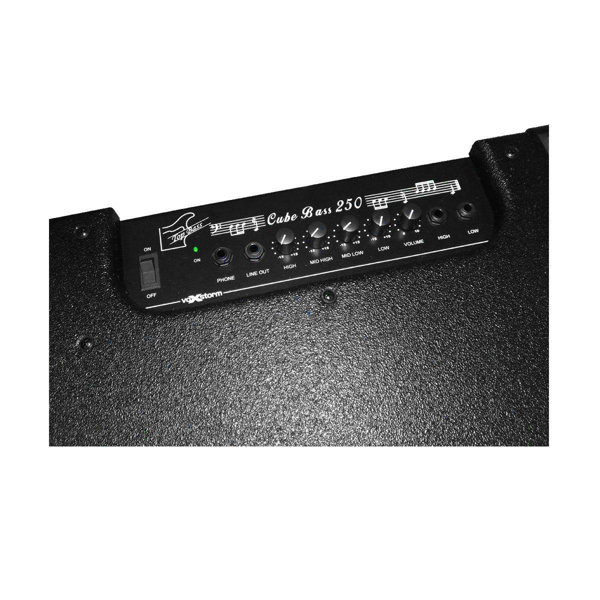 Cubo Ativo p/ Contrabaixo Fal 15 Pol 140W Top Bass CB 250 - Voxstorm