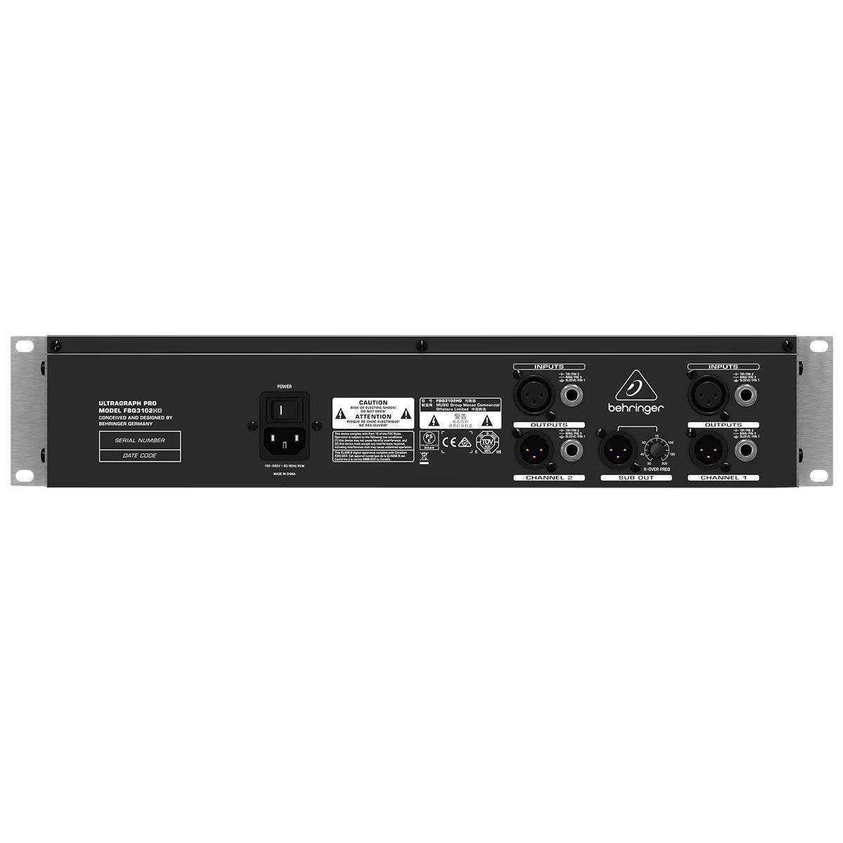Equalizador Bivolt - FBQ3102HD - Behringer