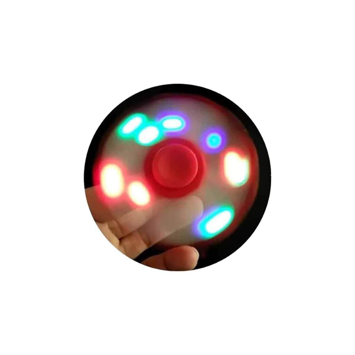 Fidget Hand Spinner Toy Preto c/ LED - Fingertoy