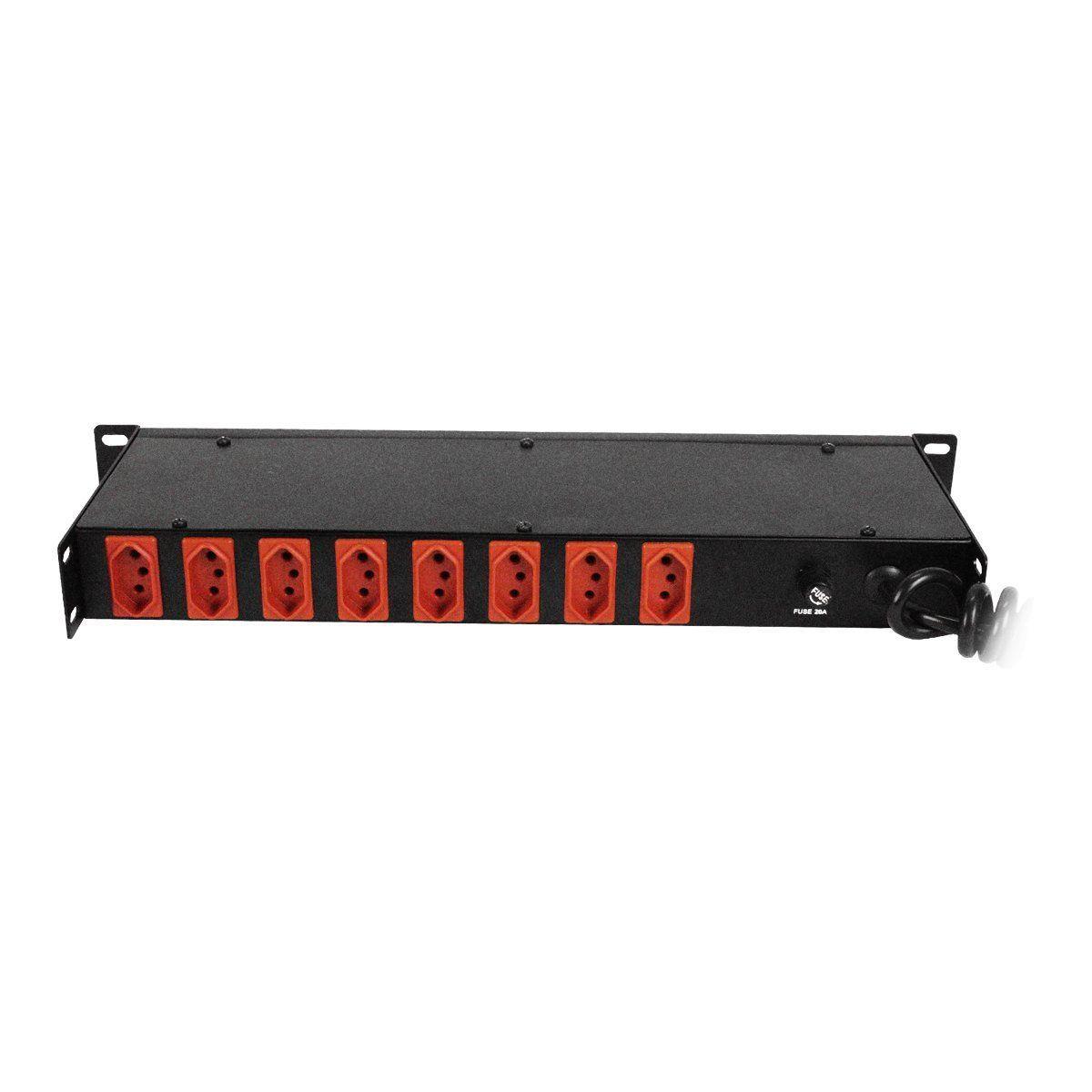 Filtro de Linha 10 Tomadas 5000 Watts com voltimetro indicador de tensão - VOX FT 10T VOXTRON by Techaudio