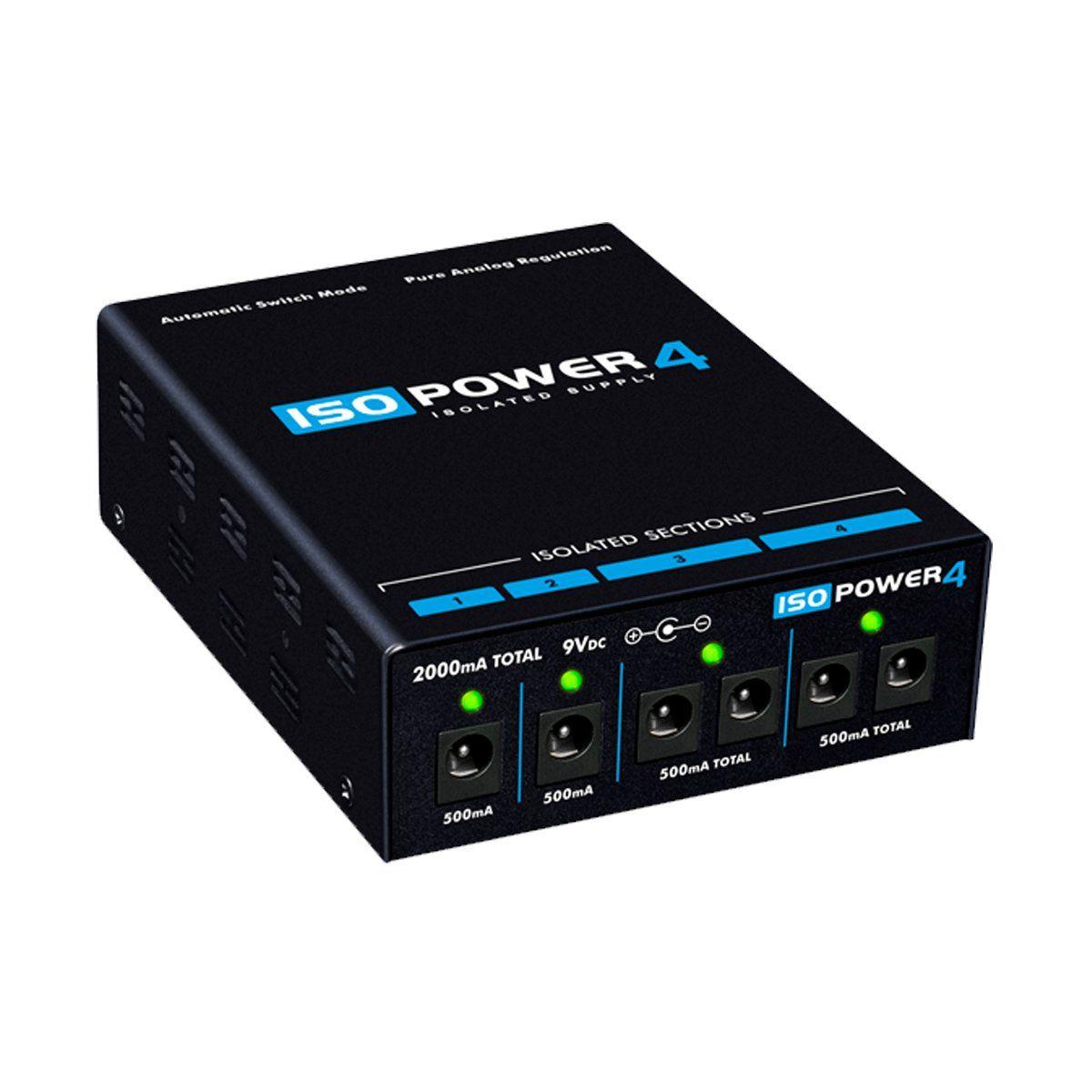 Fonte Automática de 9V DC 2000mA 6 Plugs 4 seções isoladas Iso Power 4 - Landscape