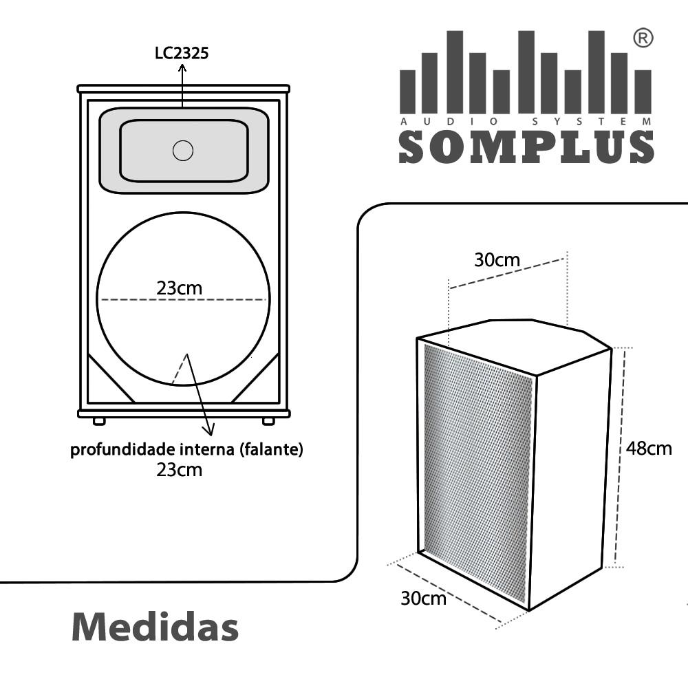Gabinete para Caixa Acústica Falante 10 polegadas + Corneta SomPlus
