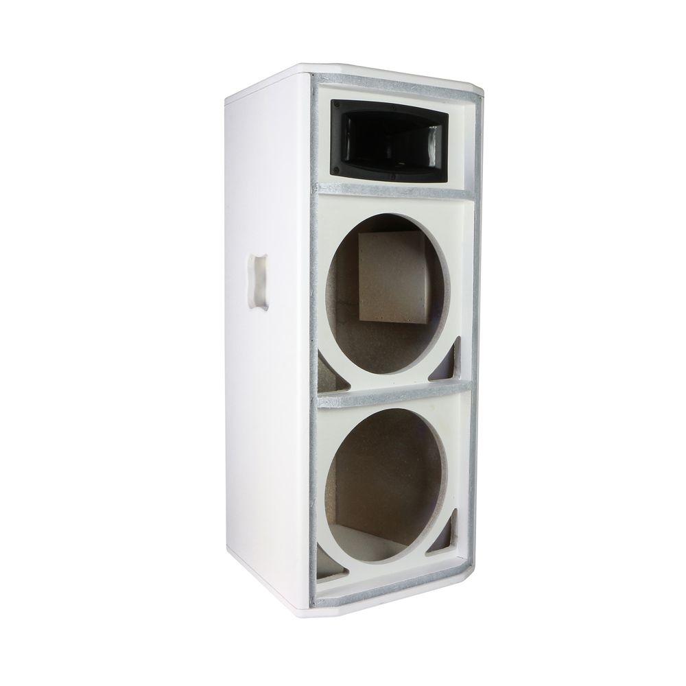 Gabinete para Caixa Acústica para 2 Falantes de 12 polegadas + Corneta para driver SomPlus