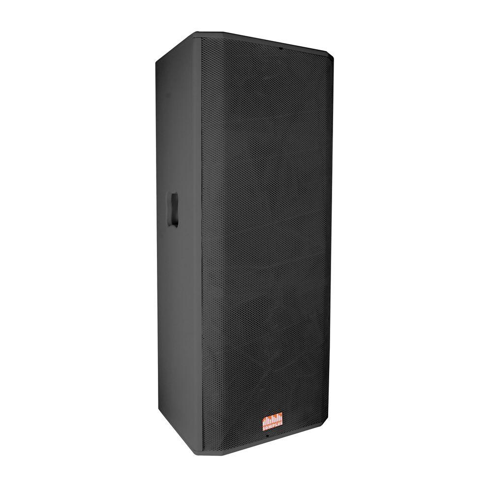 Gabinete para Caixa Acústica para 2 Falantes de 15 polegadas + Corneta para driver SomPlus