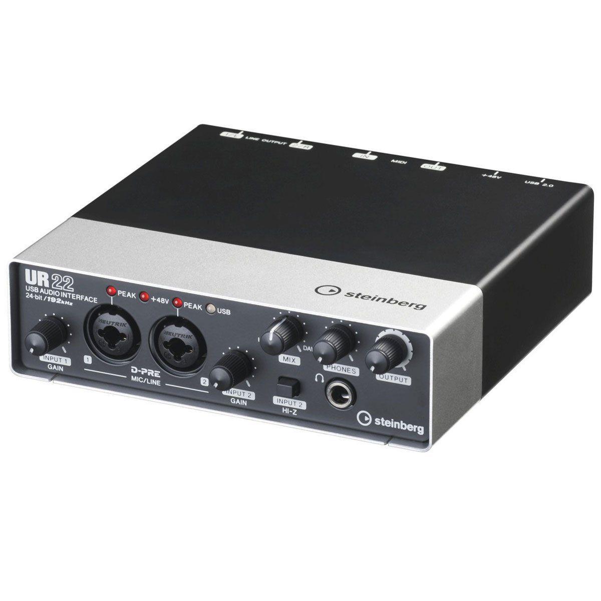 Interface de Áudio 2 IN x 2 OUT c/ USB UR22 - Steinberg