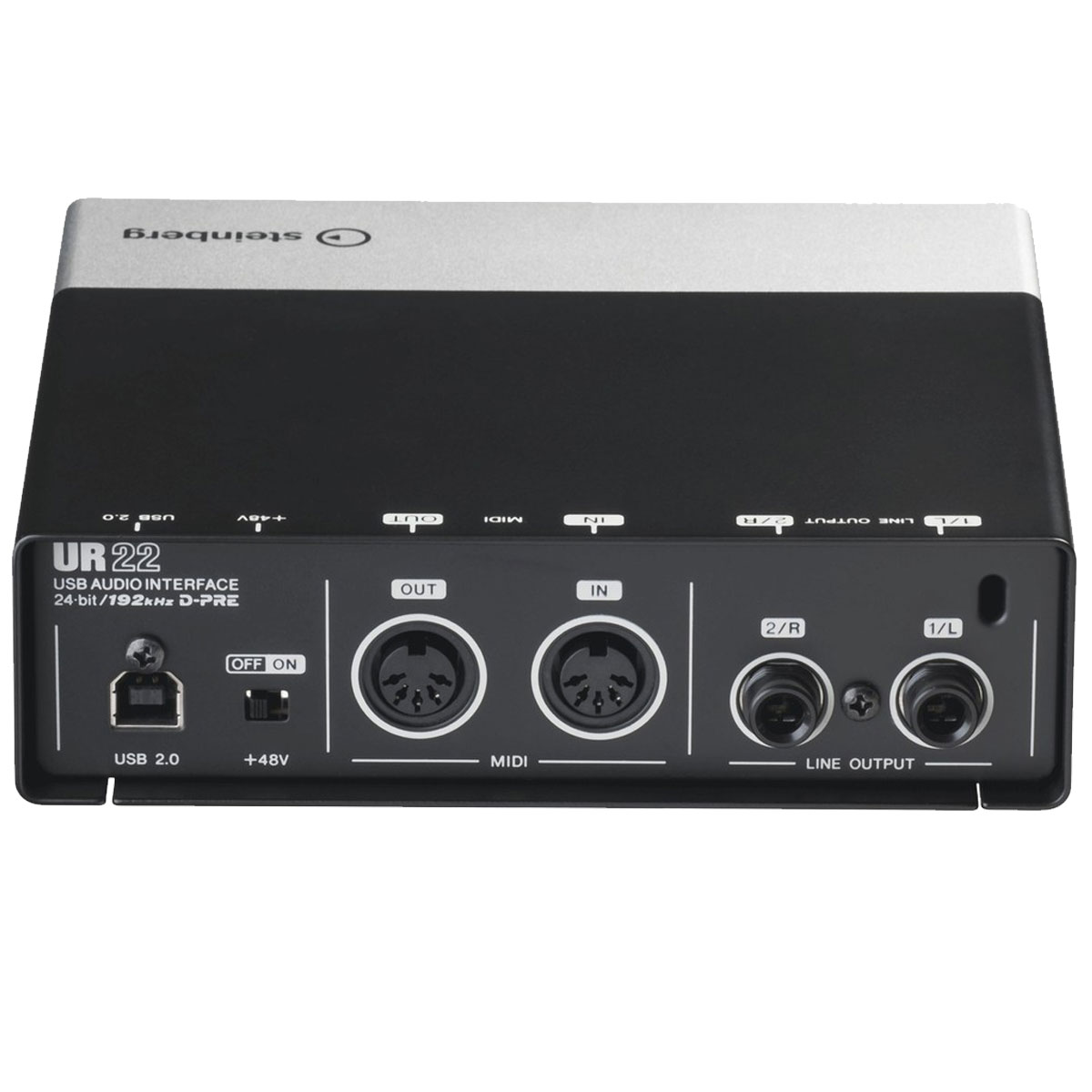 Interface de Áudio 2 IN x 2 OUT c/ USB UR22 - Steinberg