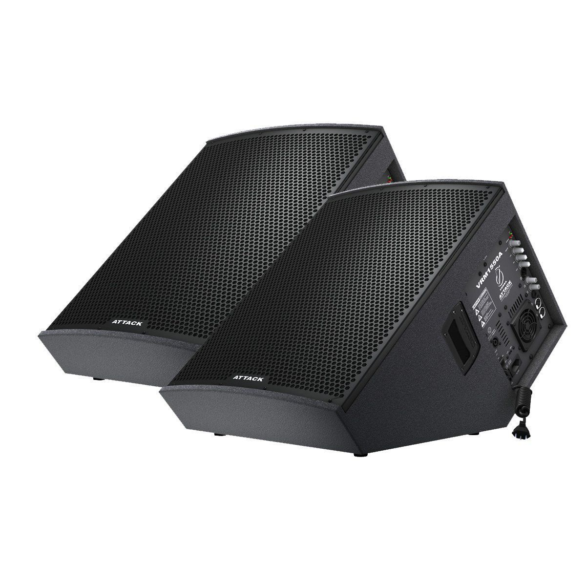 Kit 2 Caixas Monitor de PalcoVRM1550 Ativa + VRM1530 Passiva Attack