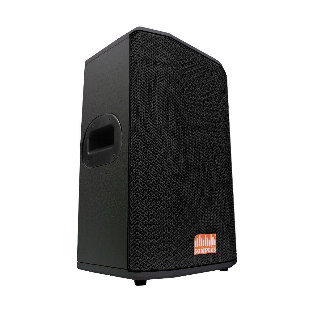 "Kit 2x caixas passivas 10"" 150W + 2x monitores passivos 10"" 150W + 2x tripés SomPlus"