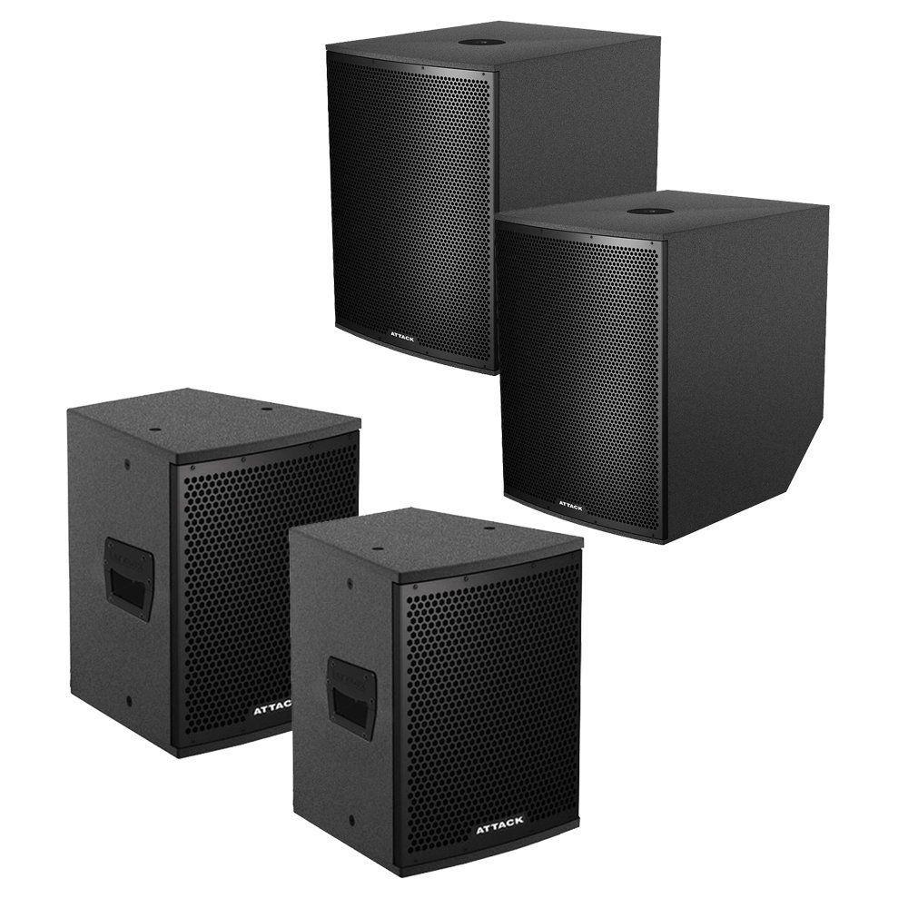 Kit 4 Caixas VRS1810A + VRS1880P + VRF1230A + VRF1220P + 2 Tubo Extensor SUPEXT508050KG Attack