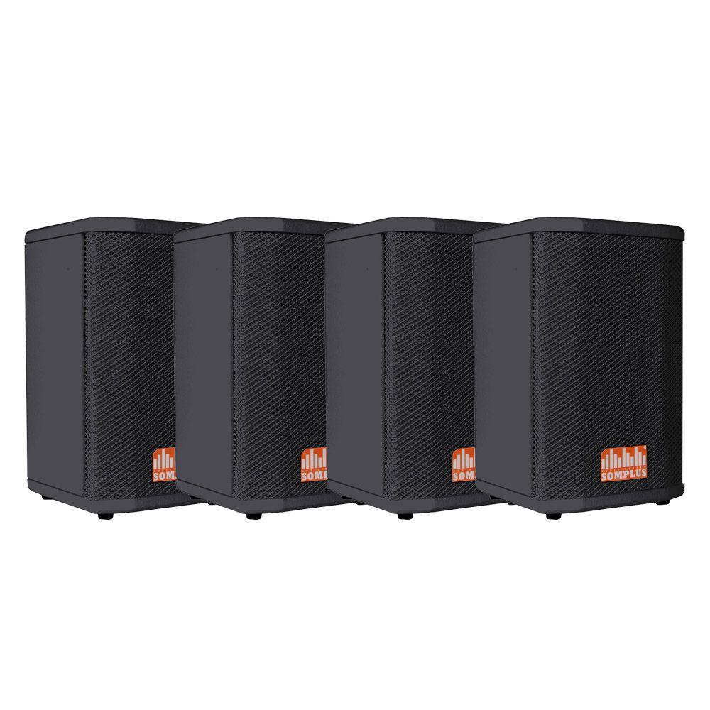 """Caixa Passiva SomPlus 6"""" 150W Kit com 4 Caixas SP062VIAS"""