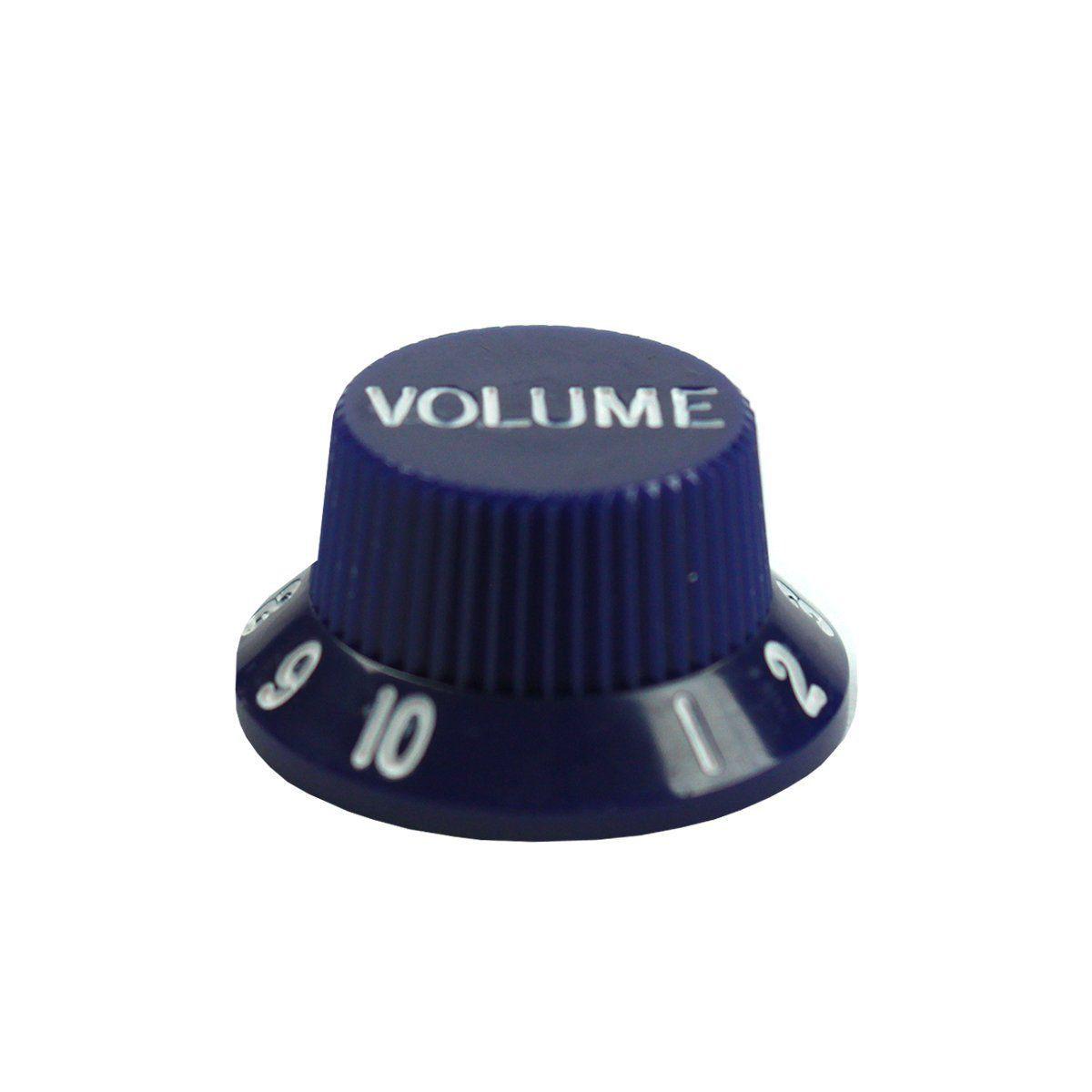 KNOB de Volume para Guitarra e Baixo CSR KB5V Azul