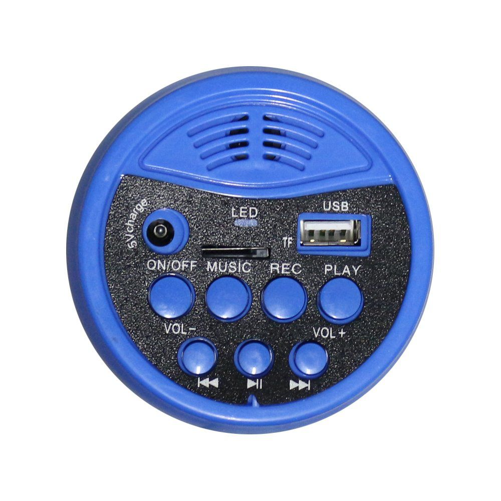 MEGAFONE CSR NT 400 30W COM BATERIA RECARREGAVEL, MUSICA, SIRENE e USB
