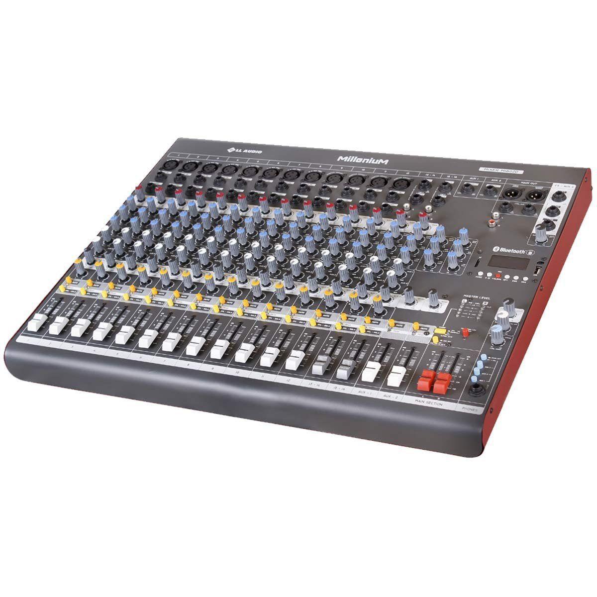 Mesa de Som 16 Canais c/ USB/SD / BLUETOOTH M1602D - LL AUDIO