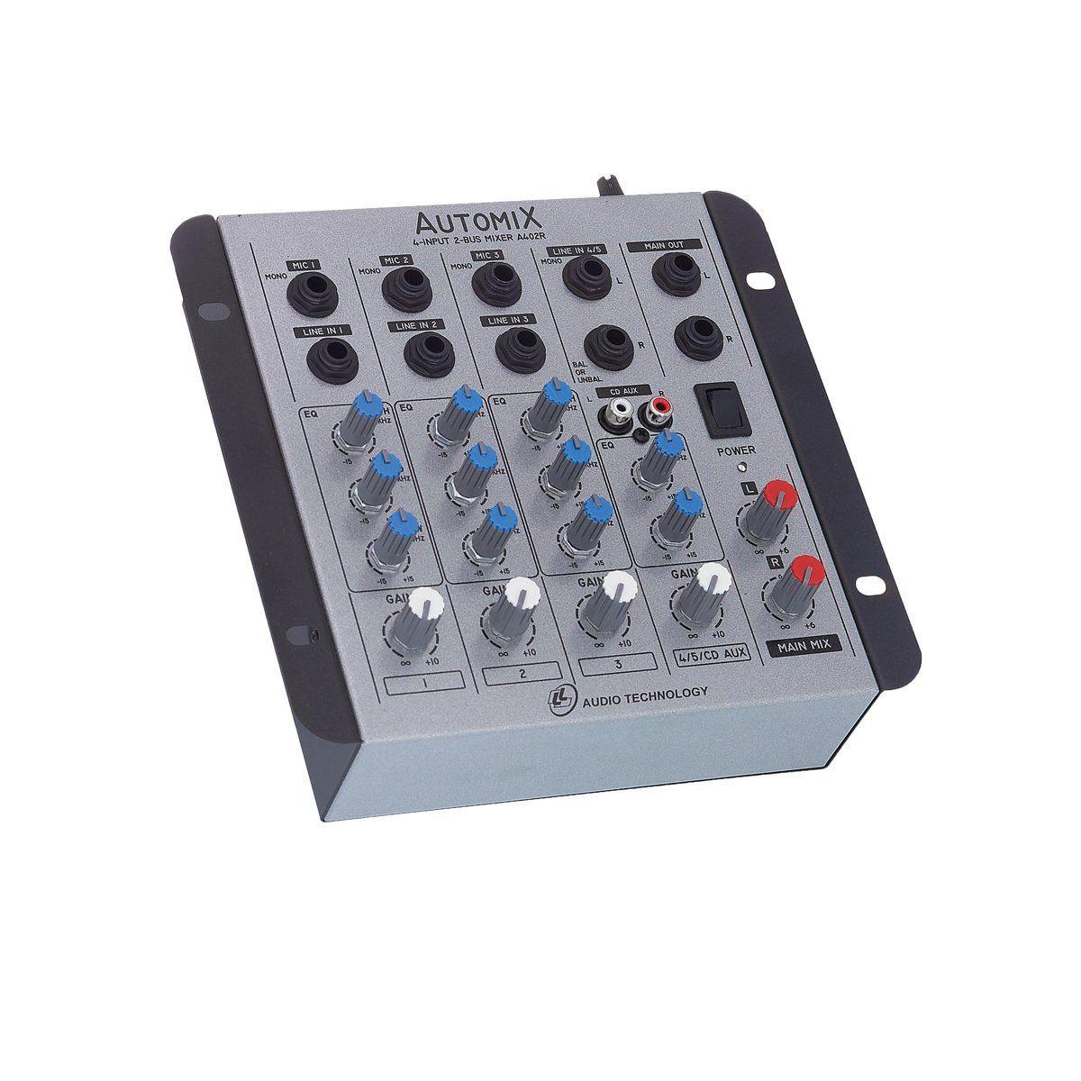 Mesa de Som Automix 4 canais A402R LL Audio