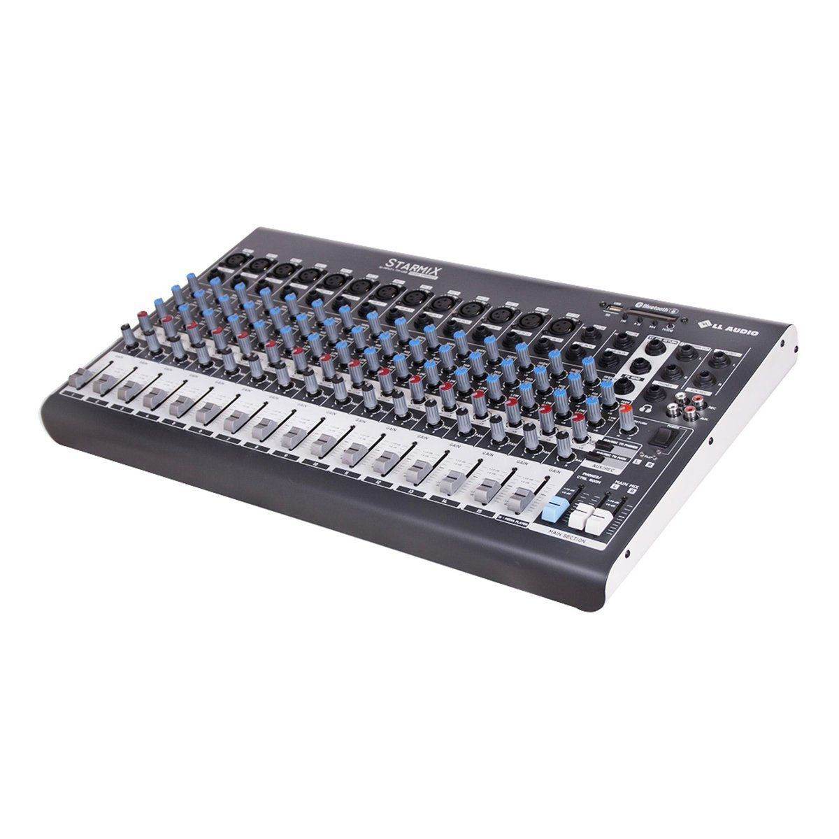 Mesa de Som LL Audio 16 Canais (13 XLR Balanceados + 2 P10 Desbalanceados) XMS1602D