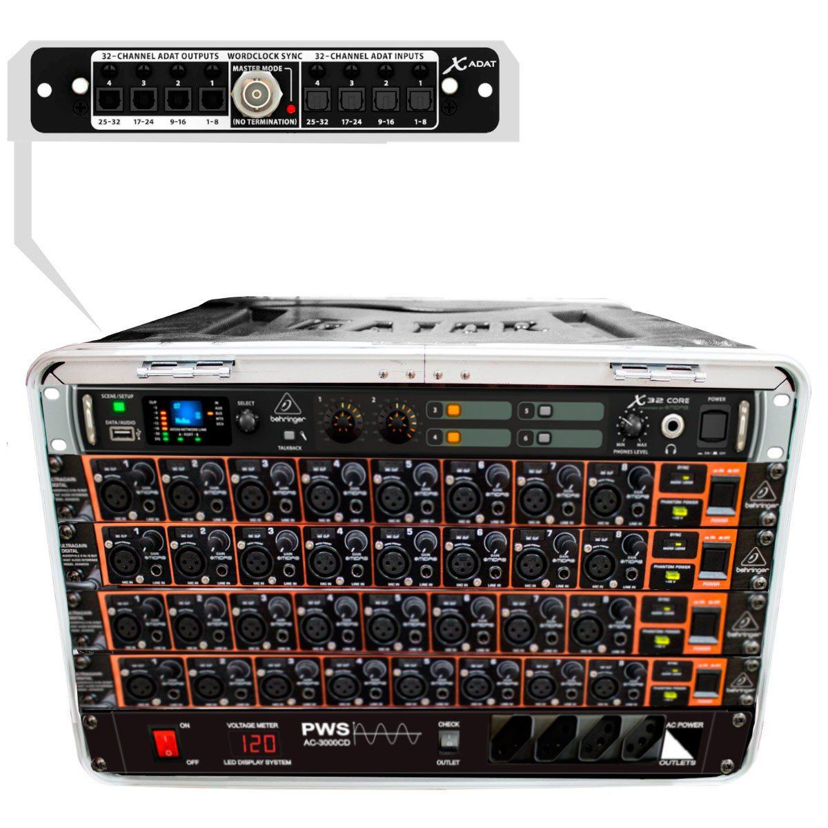 Mesa digital 32 Canais X32 Core 32MK Modular Compacta Portátil c/ Case