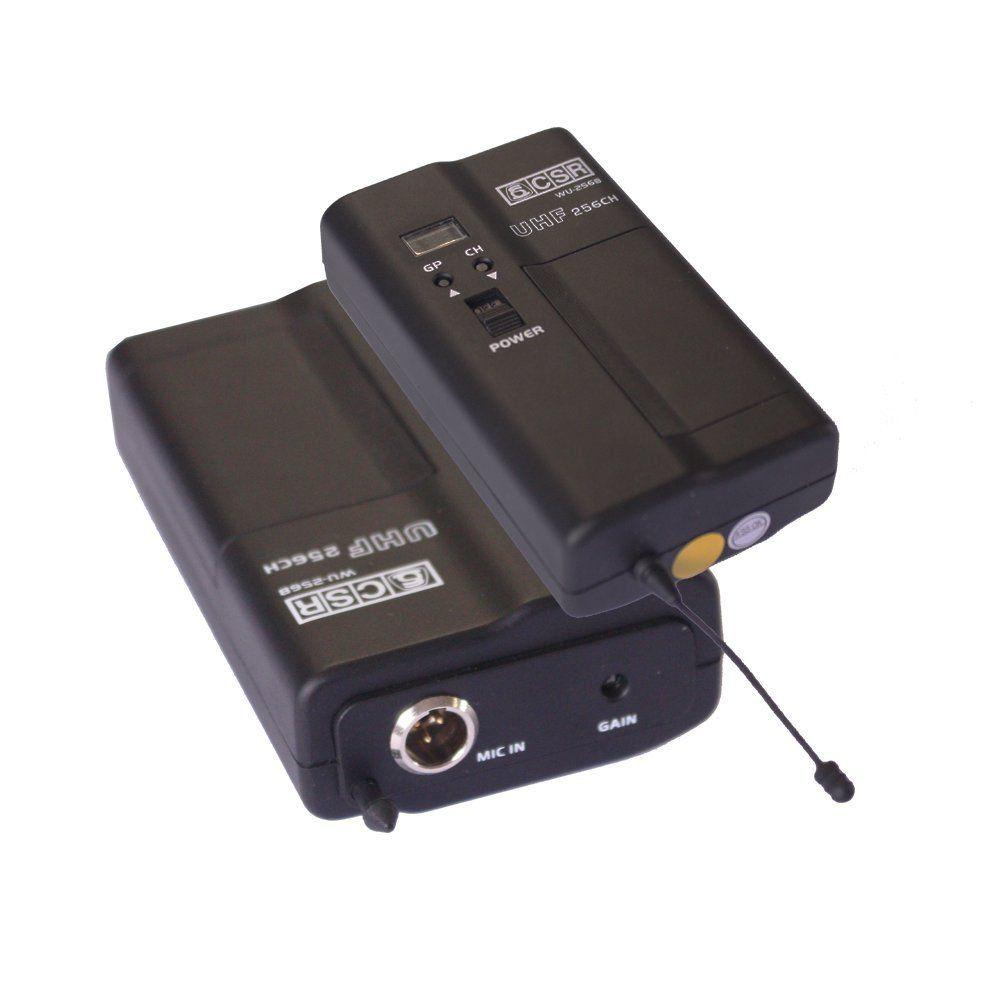 MIC S/ FIO HEADSET UHF 256 CANAIS - CSR 256 CH