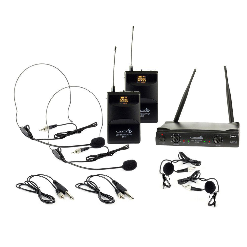 Microfone sem Fio UH-08HLIHLI Duplo 52 Frequências - Lyco