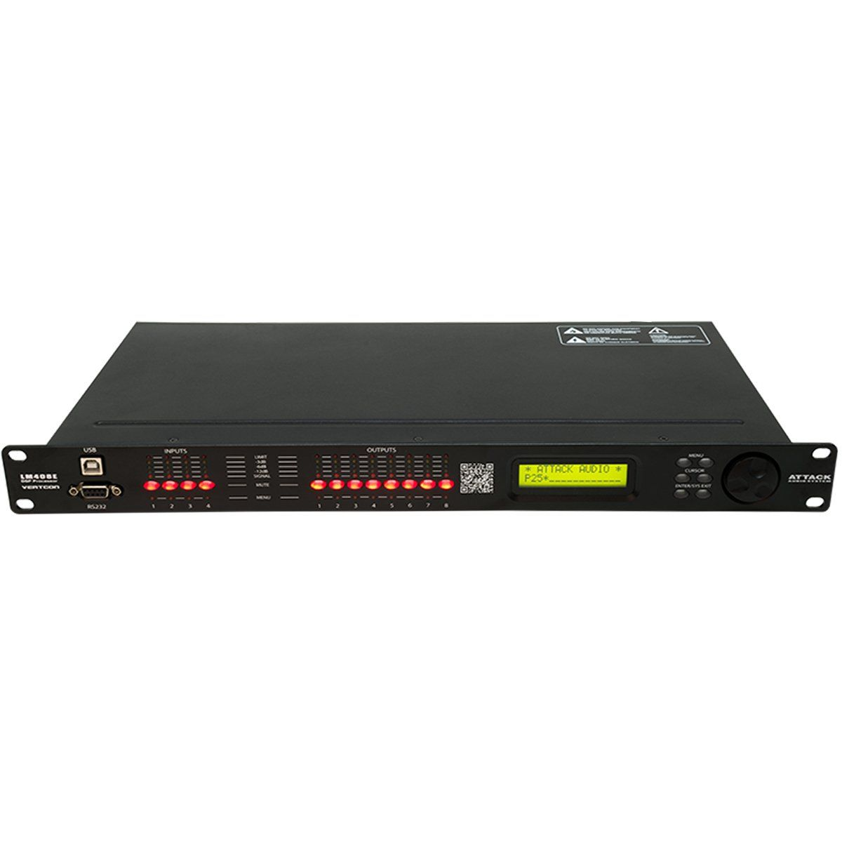 Processador de Áudio 24 Bits c/ USB / Ethernet LM 408 E - Attack