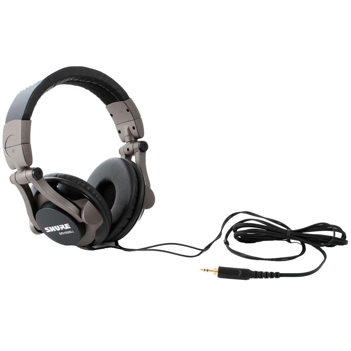 Fone de Ouvido Headphone Dj Preto Shure Srh550