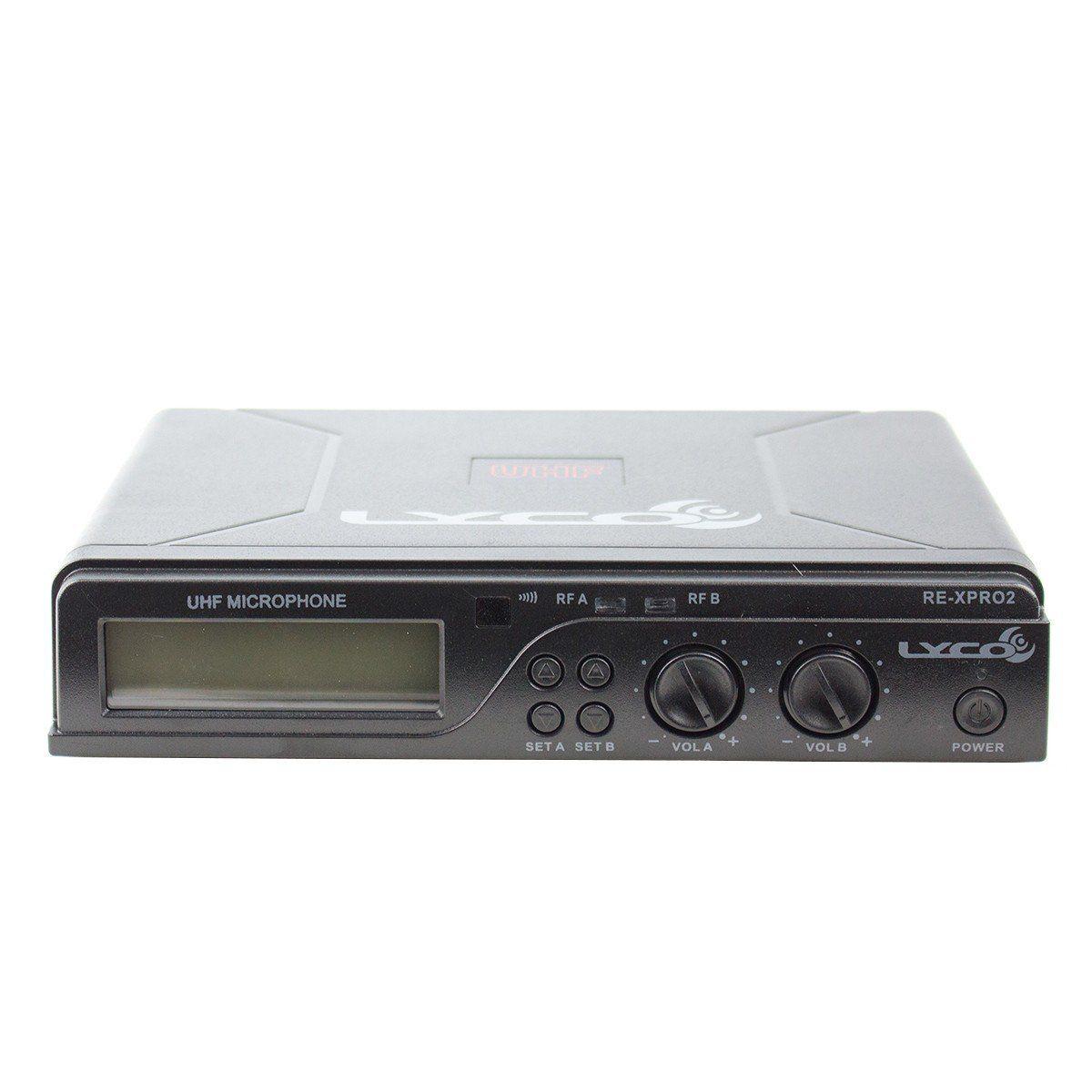 Microfone s/ Fio de Mão Duplo UHF UHX PRO 02 MM - Lyco