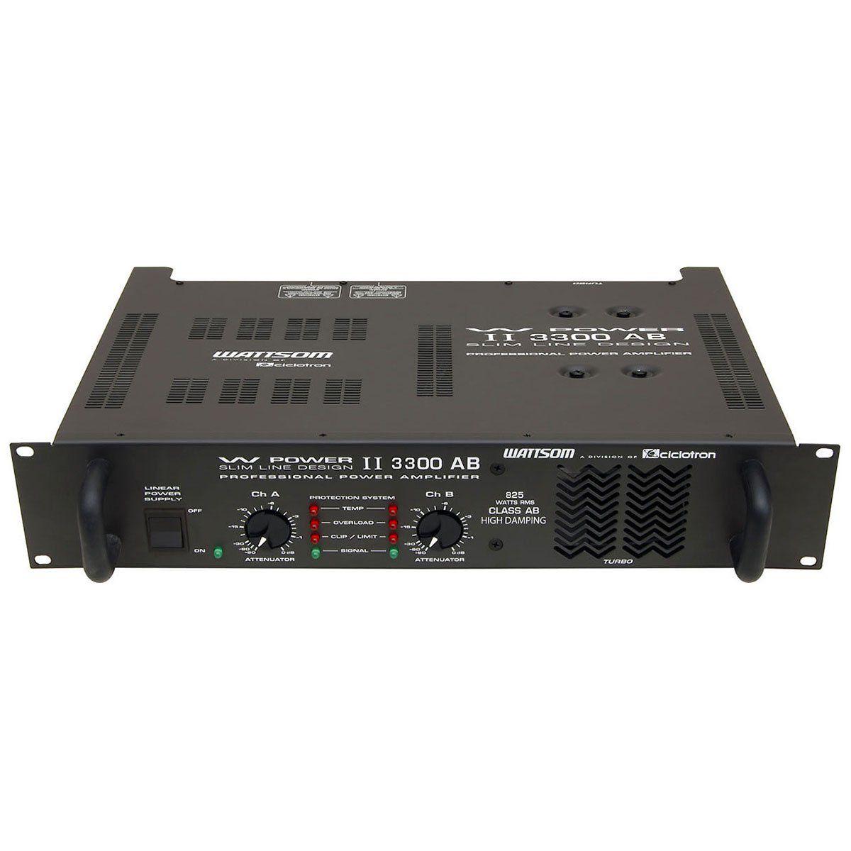 Amplificador de Potência 825W 4 Ohms - W POWER II 3300 AB Ciclotron
