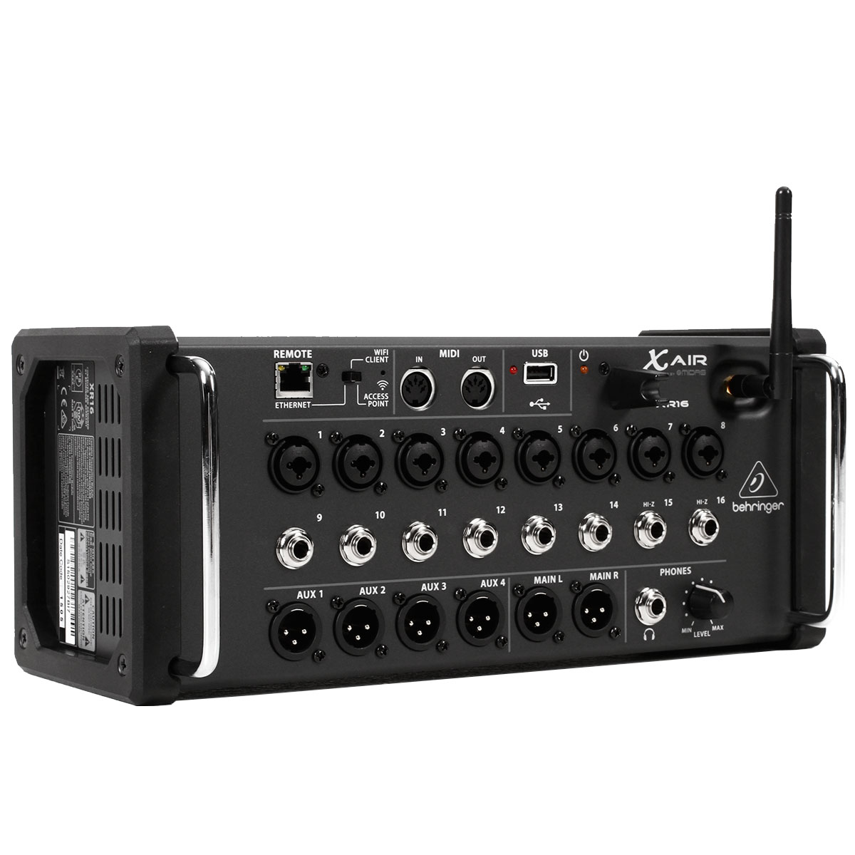 Mixer digital X-Air XR16 para iOS/PC/Android com 16in/6out - Behringer
