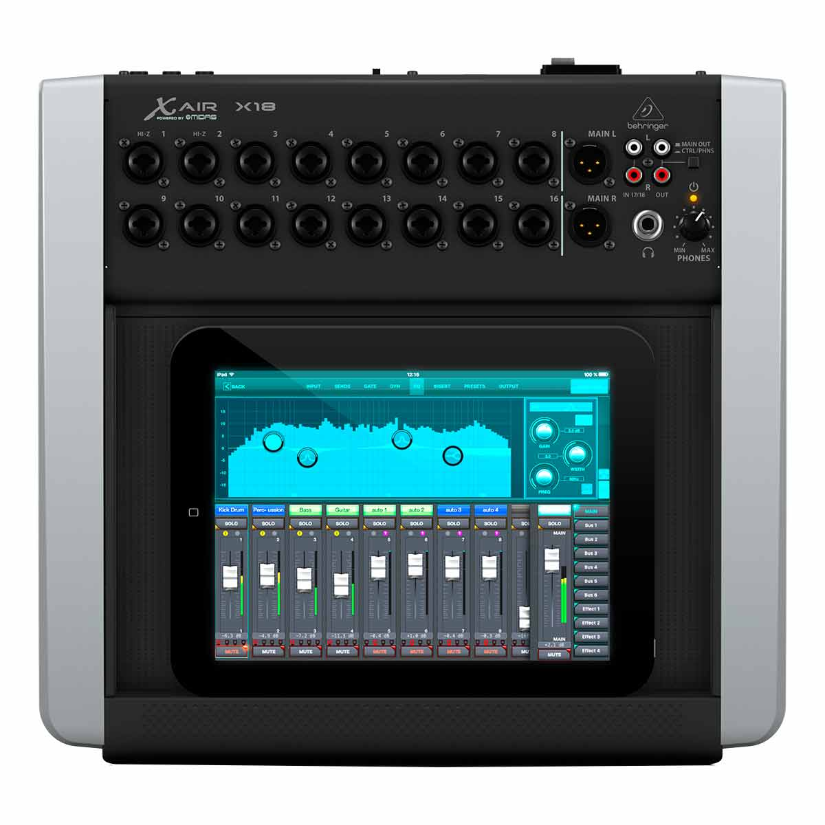 Mixer digital para iOS/PC/Android com 18-in/8-out X-Air X18 - Behringer