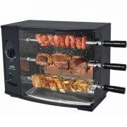 Assador de Carnes a Gás Natural Rotativo 3 Espetos Arke Vitta Premium Bivolt