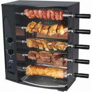 Assador de Carnes a Gás Natural Rotativo 5 Espetos Arke Vitta Premium Bivolt
