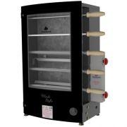 Assador de Carnes a Gás Rotativo 5 Espetos Progás PRRT-520 Black Style Bivolt