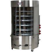 Assador de Frangos a Gás Rotativo 100kg Gastromaq ARV-100 CQC Bivolt