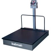 Balança Plataforma Balmak BKH-1000 1000Kg Carbono c/ Rodas INMETRO